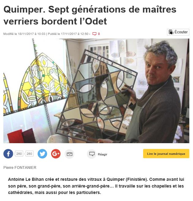 Antoine LE BIHAN Maitre verrier