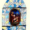 4-vitrail Joseph et les bergers-Projet