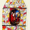 8-vitrail Présentation de jesus au temple-Projet